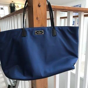 Kate Spade blue nylon tote